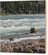 Kootenai Falls Montana Wood Print