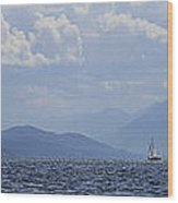Kootenay Sail Wood Print
