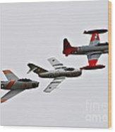 Korean War Flight Wood Print