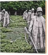 Korean War Veterans Memorial Wood Print by Olivier Le Queinec