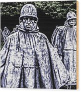 Korean War Veterans Memorial Washington Wood Print