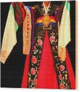 Korean Woman Dancer Wood Print