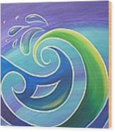 Koru Surf Wood Print by Reina Cottier