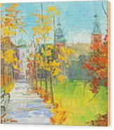Krakow - Autumn Wood Print