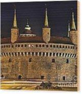 Krakow Barbican Wood Print