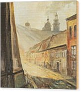 Krakow- Kanonicza Street Wood Print