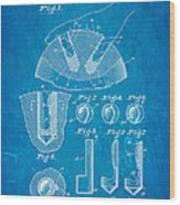 Kramer Bowling Bowl Finger Hole Insert Patent Art 1949 Blueprint Wood Print