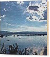 Krbava Field Of Lika Blue Lake Wood Print