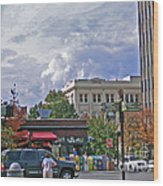 Kress Building Asheville Wood Print