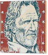 Kris Kristofferson Pop Art Wood Print