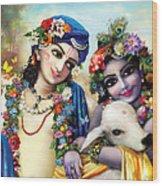 krishna-Balarama Wood Print