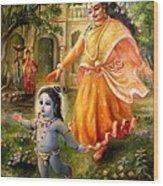 Krishna Damodara Wood Print