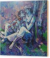 Krishna Radha Wood Print