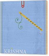 Krishna The Playful Wood Print