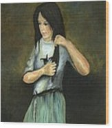 Kristina At 18 Wood Print by Cecilia Brendel