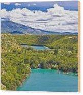 Krka River National Park Canyon Wood Print