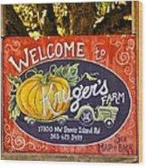Kruger's Farm Wood Print
