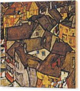 Krumau - Crescent Of Houses. The Small City V Wood Print