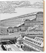 Krupp's Factory, Essen  Machine Shop Ix Wood Print