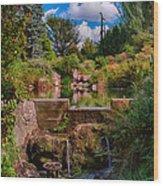 Kubota Garden Pond Wood Print