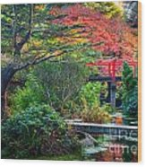 Kubota Gardens In Autumn Wood Print