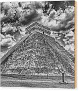 Kukulcan Pyramid V2 Wood Print