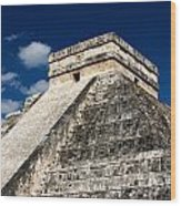 Kukulkan Pyramid At Chichen Itza Wood Print