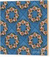 Kurbits Wreaths Blue Wood Print
