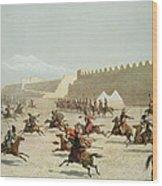Kurdish And Tatar Warriors At Sadar Wood Print