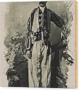 Kurdish Tribal Leader Wood Print