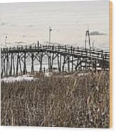 Kure Beach Pier Wood Print