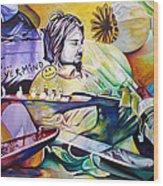 Kurt Cobain- It Aint Medicine Kurt Wood Print