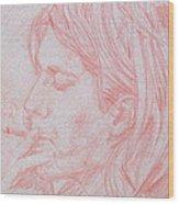 Kurt Cobain Smoking-pencil Portrait Wood Print