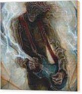 Kurt Cobain Zombie Wood Print