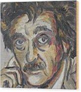 Kurt Vonnegut Wood Print