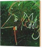 Kurt Vonnegut Wood Print by Michael Kulick