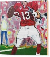 Kurt Warner-in The Zone Wood Print by Bill Manson