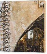 Kutna Hora Bone Church Wood Print by Joanna Madloch