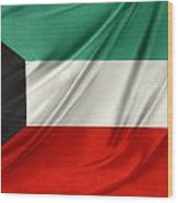 Kuwait Flag  Wood Print by Les Cunliffe