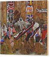Kwakiutal Wood Print