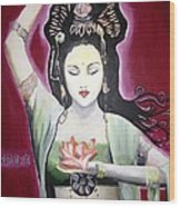 Kwan Yin Wood Print