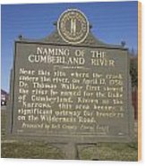 Ky-2045 Naming Of The Cumberland River Wood Print