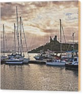 Kyleakin Harbor And Castle Moil Wood Print