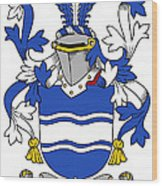 Kyne Coat Of Arms Irish Wood Print