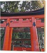 Kyoto Fushimi Shrine-4 Wood Print