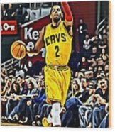Kyrie Irving Wood Print by Florian Rodarte