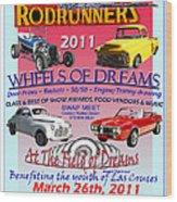 L C Rodrunner Car Show Poster Wood Print
