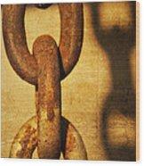 L I N K S Wood Print by Charles Dobbs