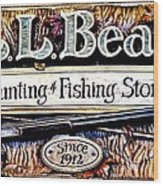 L. L. Bean Hunting And Fishing Store Since 1912 Wood Print