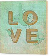 L O V E Between The Lines Wood Print
